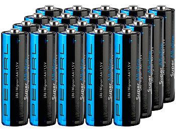 Super-Alkaline-Batterien Mignon 1,5V Typ AA, 20 Stück