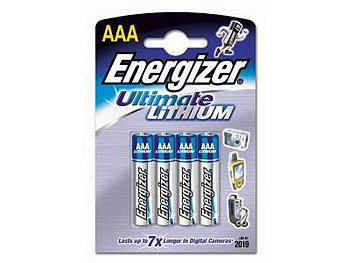 Ultimate Lithium-Batterie AAA Micro 1,5 Volt im 4er-Pack
