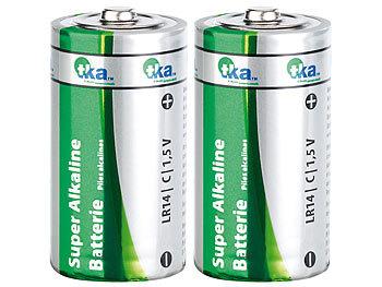 Super Alkaline Batterien Baby 1,5V Typ C im 2er-Pack