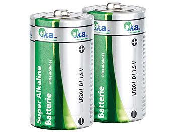Super Alkaline Batterien Mono 1,5V Typ D im 2er-Pack