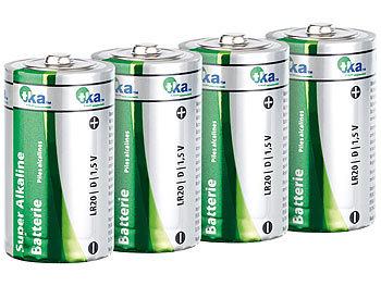 Sparpack Alkaline Batterien Mono 1,5V Typ D im 4er-Pack