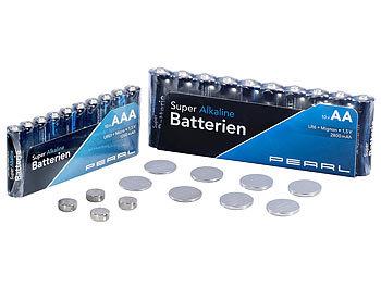 Batterie-Set 32-teilig mit Alkaline- und Lithium-Zellen