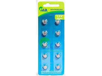 Alkaline-Knopfzellen LR41, 1,5 Volt, im 10er-Sparpaket