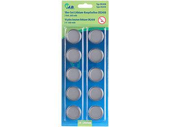 Lithium-Knopfzellen CR2450, 3 Volt, im 5er-Sparpaket