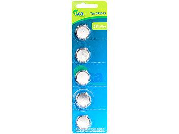 Lithium-Knopfzellen CR2025, 3 Volt, im 5er-Sparpaket