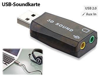 Externe USB-Soundkarte mit virtuellem 5.1-Surround-Sound, Plug & Play