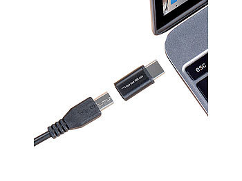 USB-Adapter mit Typ-C-Stecker auf Micro-USB-Buchse