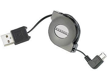 USB-2.0-Adapterkabel Typ A auf Micro-USB 80 cm mit Kabeltrommel