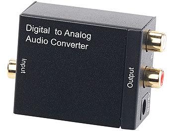 Audio-Konverter digital zu analog, mit TOSLINK, Koaxial & Stereo-Cinch