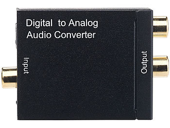 Audio-Konverter digital zu analog, mit TOSLINK, Koaxial & Stereo-Cinch