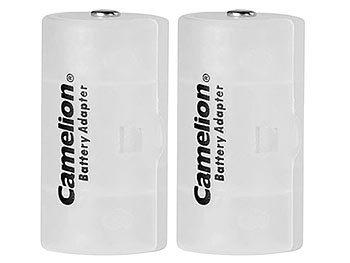 Akku- & Batterie-Konverter AA Mignon zu Mono Typ D, 2er-Set