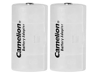 Akku- & Batterie-Konverter AA Mignon zu Baby Typ C, 2er-Set
