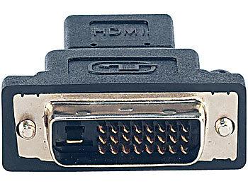 Display-Adapter HDMI-Buchse auf DVI-D-Stecker