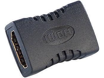 Kupplung für HDMI-Kabel, 2x HDMI-Buchse, vergoldet