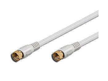 Sat.-Anschlusskabel (F-Stecker) 1,5m weiß doppelt geschirmt, vergoldet