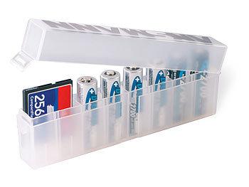 AA/AAA Akkubox für 8 Batterien/Akkus/Speicherkarten