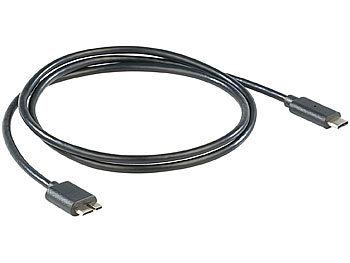 USB-3.0-Anschlusskabel C-Stecker auf Micro-B-Stecker, 1 m