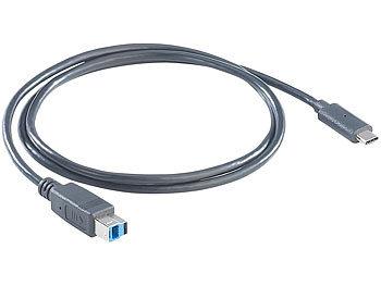 USB-3.0-Anschlusskabel C-Stecker auf B-Stecker , 1 m