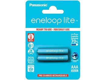 eneloop lite NiMH-Akkus AAA / Micro, 1,2 Volt, 550 mAh, 2er-Pack