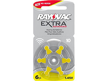 Hörgeräte-Batterien 10 Extra Advanced 1,45V 105 mAh, 6er-Pack