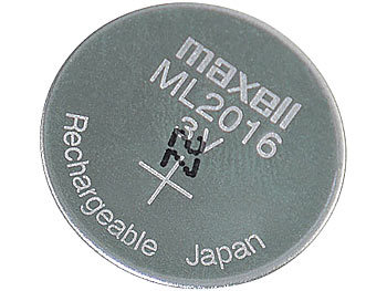 ML2016 wiederaufladbare Li-Ion-Knopfzelle, 3 V, 25 mAh