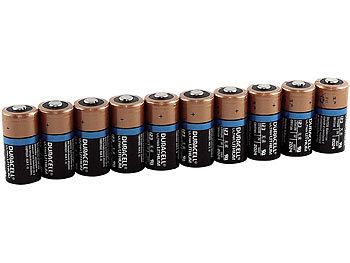 Lithium-Batterie Typ CR123, 1.400 mAh, Duralock, 10er-Pack