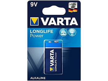 Longlife Power Alkaline-Batterie, Typ 9V / E-Block / 6LR3146, 9 Volt