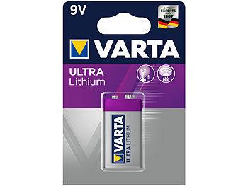 Ultra Lithium-Batterie, Typ E-Block / 9V / 6FR61, 9 Volt