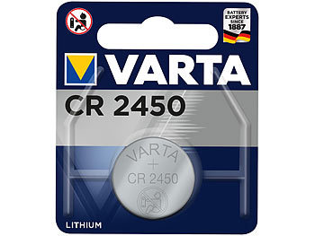 Electronics Lithium-Knopfzelle, CR2450, 570 mAh, 3 Volt