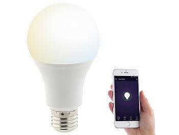 WLAN-LED-Lampe, komp. zu Amazon Alexa & Google Assistant, E27, weiß