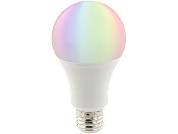 WLAN-LED-Lampe, komp. mit Amazon Alexa & Google Assistant, E27, RGBW