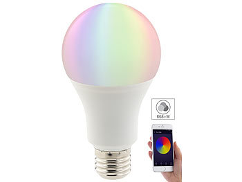 WLAN-LED-Lampe, komp. mit Amazon Alexa & Google Assistant, E27, RGBW