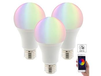 3er-Set WLAN-LED-Lampen, Amazon Alexa & Google Assistant komp., E27