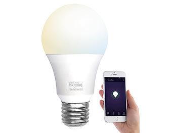 WLAN-LED-Lampe, E27, 800 lm, für Amazon Alexa & Google Assistant, CCT