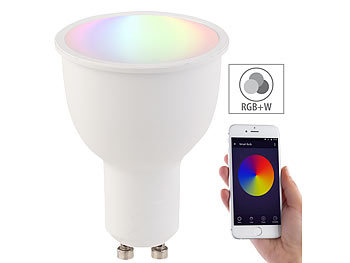 WLAN-LED-Lampe, komp. mit Amazon Alexa & Google Assistant, GU10, RGB+W