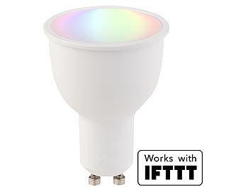 WLAN-LED-Lampe, komp. mit Amazon Alexa & Google Assistant, GU10, RGB+W
