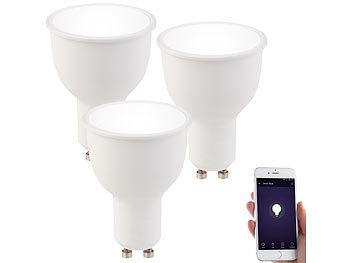 3er-Set WLAN-LED-Lampen GU10, komp. mit Alexa, tageslichtweiß, 4,5, A+