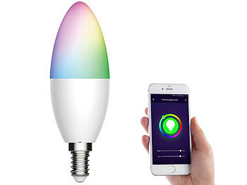 WLAN-LED-Lampe für Amazon Alexa/Google Assistant, E14, RGB, CCT, 5,5 W